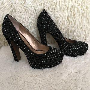 BCBGENERATION black, suede, platform heels.